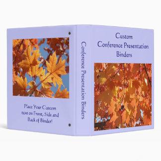 Custom Conference Presentation Binders Leaves