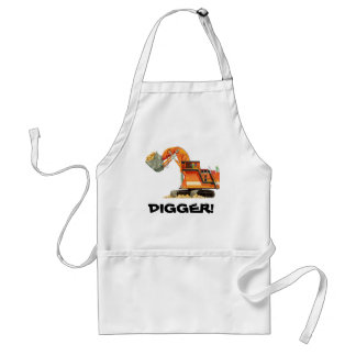 Custom Construction Truck Orange Digger Adult Apron