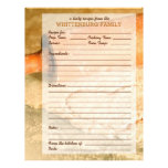 Custom Cookie Dough Hearts Family Recipe Page Letterhead