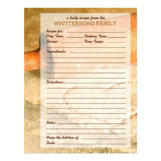 Custom Cookie Dough Hearts Family Recipe Page Letterhead