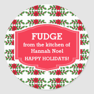 Custom Cookie Swap or Fudge Holiday Stickers