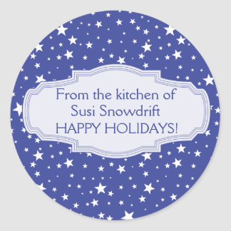 Custom Cookie Swap or Fudge Tin Holiday Stickers
