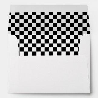 Custom Cool Formula 1 Checkered Flags Pattern Envelope