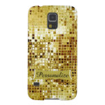 Custom Cool Gold Sequins Look Samsung S5 Case Galaxy S5 Covers