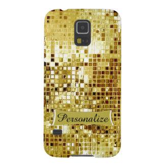 Custom Cool Gold Sequins Look Samsung S5 Case