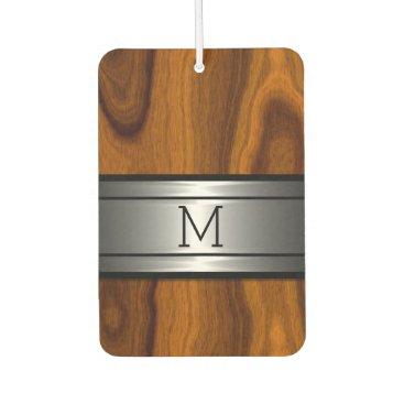 CozyLivin Custom Cool Metal Modern Trendy Wood Grain Pattern Car Air Freshener
