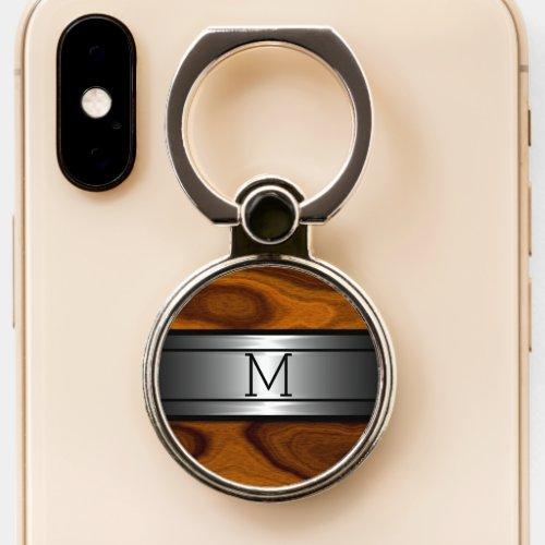 Custom Cool Modern Metal Trendy Wood Grain Pattern Phone Case