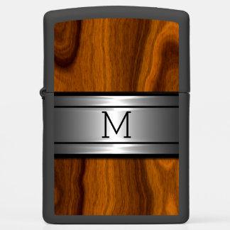 Custom Cool Modern Metal Trendy Wood Grain Pattern Zippo Lighter