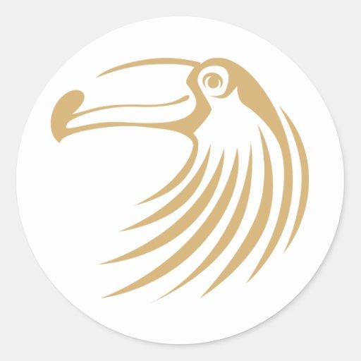 Custom Cool Toucan Bird Logo Classic Round Sticker