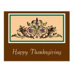 Custom Cornucopia Vintage Thanksgiving Postcard