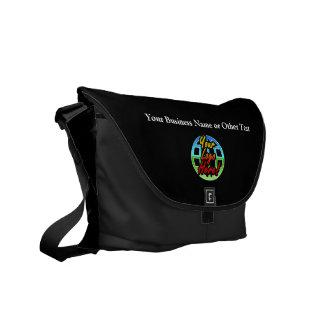Custom Corporate Business Black Messenger Bag