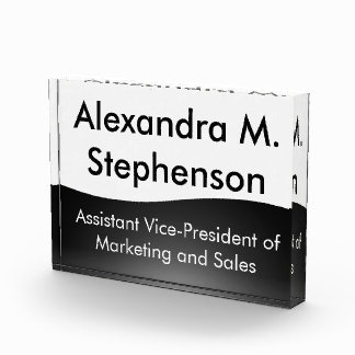 Custom Corporate Desk Name Plate