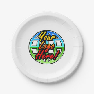 Custom Corporate or Promotional Imprinted Logo Paper Plate