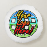 Custom Corporate or Promotional Imprinted Logo Round Pillow