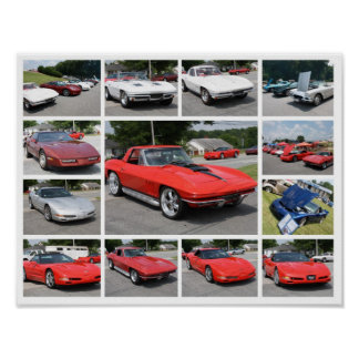 custom Corvette Collage Print - Poster