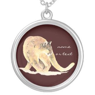 Custom  Cougar, Puma, Mountain Lion, Animal Pendant