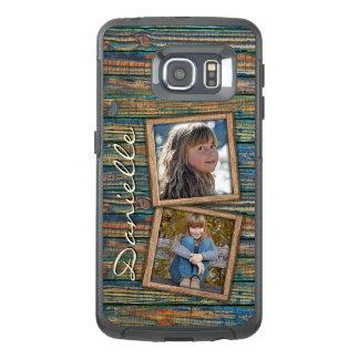 Custom Country Farmhouse Barn Wood Planks Pattern OtterBox Samsung Galaxy S6 Edge Case