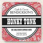 Custom Country Music Paisley Honky Tonk Pub Drink Coaster