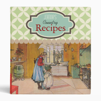 Custom Country Recipe, The Kitchen by Carl Larsson Binder