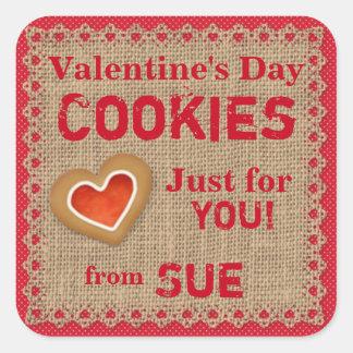 Custom Country Valentine Cookie Stickers