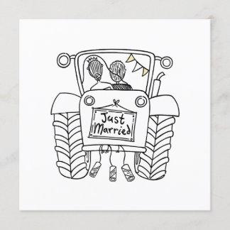 Custom Country Wedding Tractor Invitation