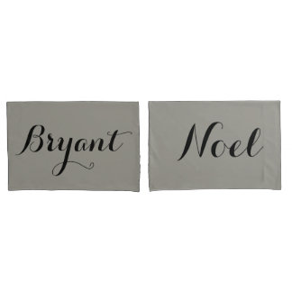 custom couple pillow names or initials pillow case