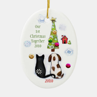 Custom Couple s First Christmas Christmas Tree Ornament