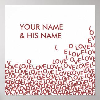 Custom Couples Love Poster, romantic bedroom decor Poster