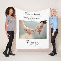 Custom Couples Photo Blanket
