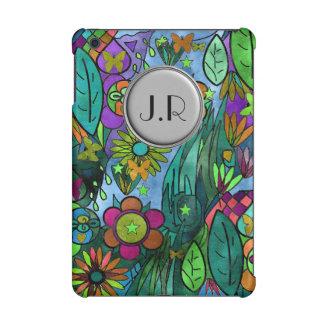 custom cover botanical garden scene monogram 2016 iPad mini cover