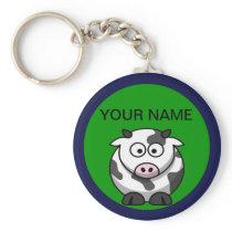 Custom Cow Keyring
