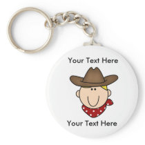 Custom Cowboy Blond Keychain