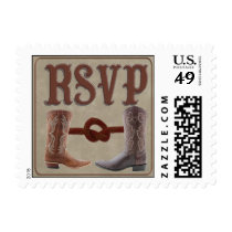Custom Cowboy Boot rsvp stamps