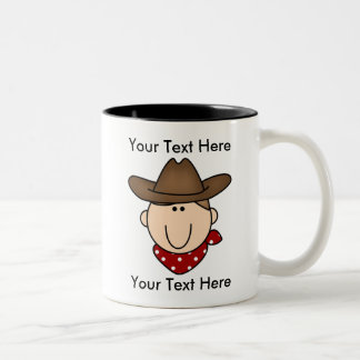 Custom Cowboy Brown Mug - Customizable