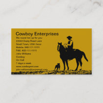Custom Cowboy Business Cards - Customize for you
