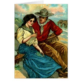 Custom Cowboy Courtship Card
