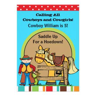 Custom Cowboy Hoedown Invitations