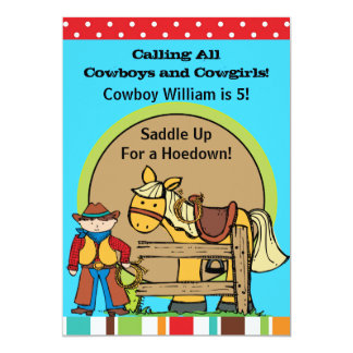 Custom Cowboy Hoedown Invitations