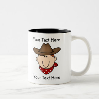 Custom Cowboy Red Mug - Customizable