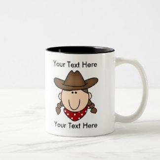 Custom Cowgirl Brown Mug - Customizable