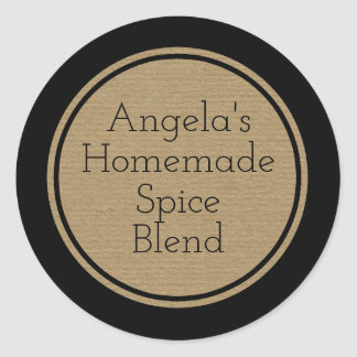 Custom Craft Paper Print Bottle Canning Jar Label