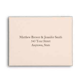 Custom Cream and Tan Envelope with Address Envelopes