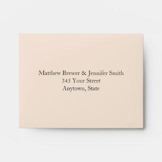 Custom Cream and Tan Envelope with Address