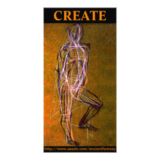 """Custom """"CREATE"""" Fine Art Photocard Card"""