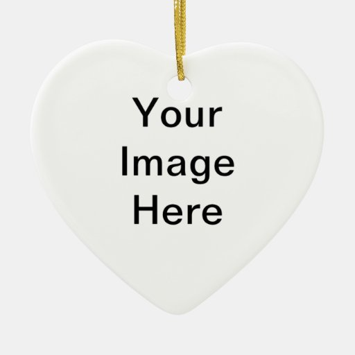 Custom Create Your Own Product Double-sided Heart Ceramic Christmas Ornament