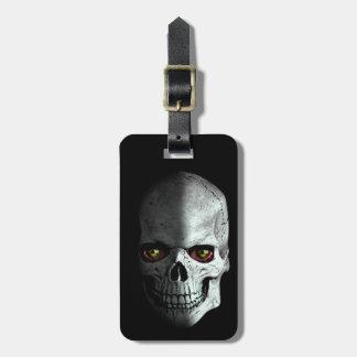 Custom creepy, zombie skull with bloody eyes... luggage tag