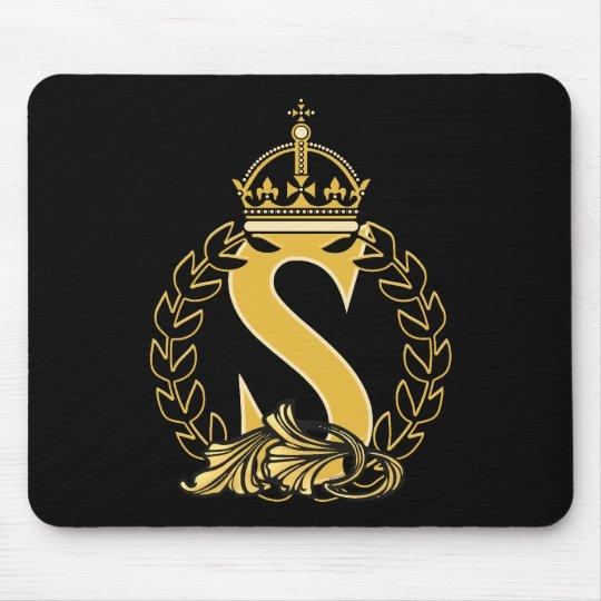 Custom Crown Monogram - S Mouse Pad