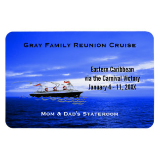 Custom Cruise Cabin Door Marker | Blue Ocean Ship Magnet