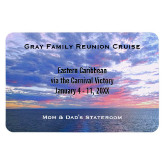 Custom Cruise Cabin Door Marker | Ocean Sunset Magnet