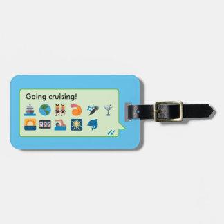 Custom cruise vacation emoticons phone message… bag tag